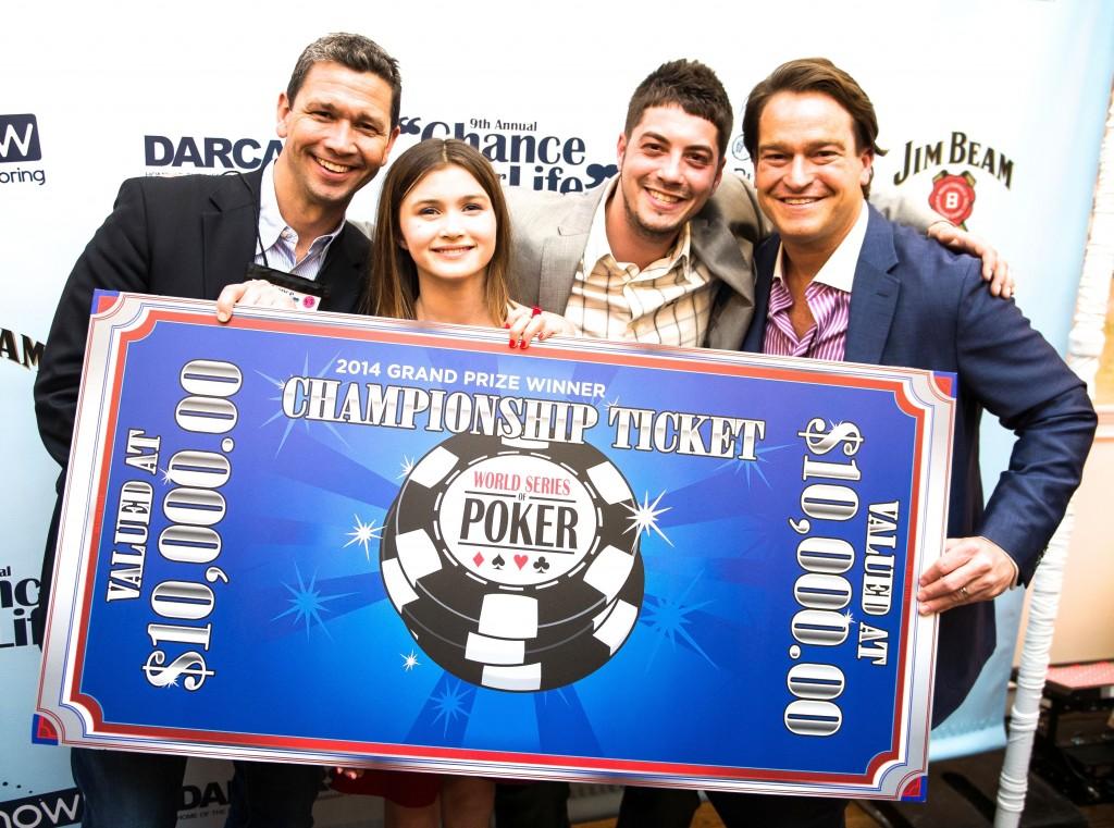 Check - Jeff Snyder, Kennedy Snyder, Winner Shaun Dunevant, Brad Nierenberg