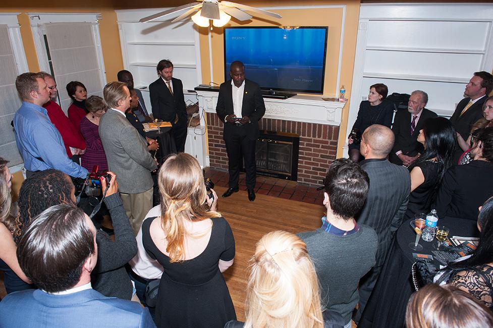 Kweku Mandela addresses guests