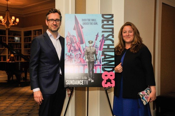 "WASHINGTON, DC - JUNE 04: Joerg Winger, creator & executive producer, and Anna Winger, creator & writer, attend the DC premiere of Sundance TV's ""Deutschland 83"" at the Motion Pictures Association of America Headquarters on June 4, 2015 in Washington DC.  (Photo by Kris Connor/ Getty Images for SundanceTV and MPAA)"
