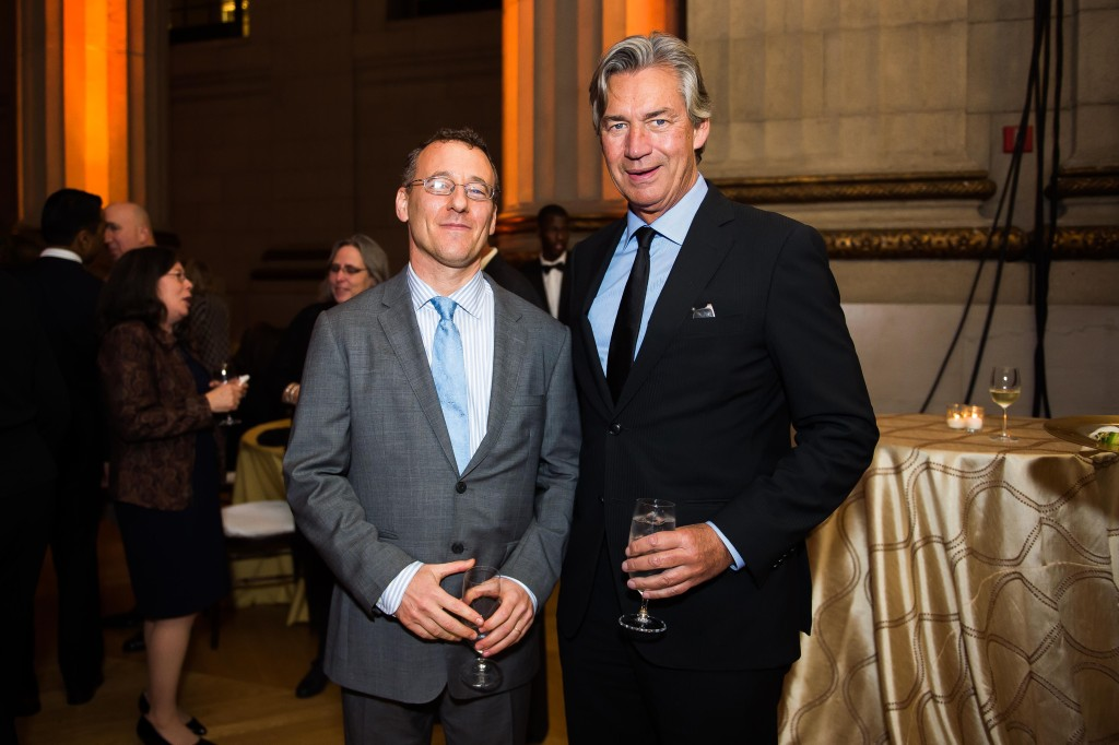 AAM Founder and President Aaron Lobel and Canadian Ambassador to the US Gary Doer at the AAM Awards by Joy Asico