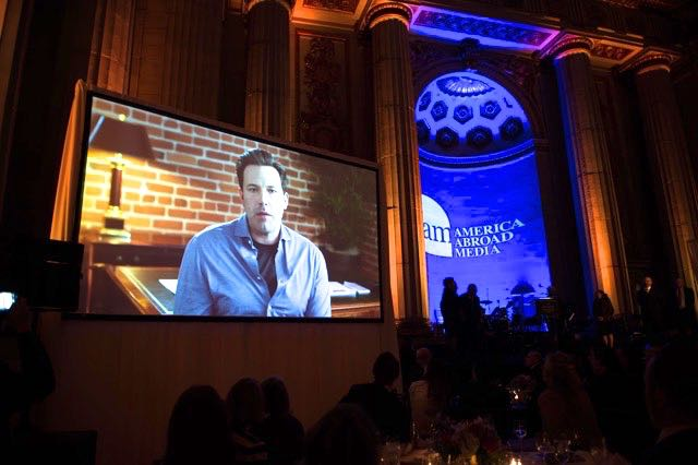 Ben Affleck thanks the crowd at the AAM Awards by Joy Asico